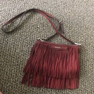 Rebecca Minkoff maroon fringe crossbody bag